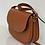 Thumbnail: Seasonless saddle bag in camel-hued leather