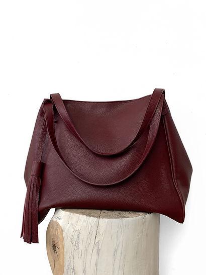 Leather hobo bag Burgundy.JPG
