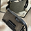 Thumbnail: Shoulder Bag in smooth black leather and sheep wool