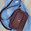 Thumbnail: Camera bag in burgundy coloured leather