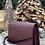 Thumbnail: Shoulder bag in warm burgundy hued leather