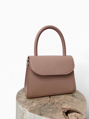 Mini Top handle bag - Nude