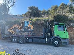 camion porte char grue eurotc 6x4 terrassement cabasse