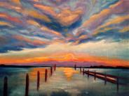 Sunset at Tilghman Island
