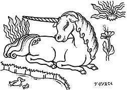 unicorn in the meadow