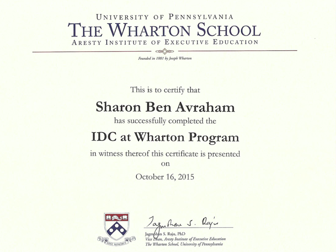 IDC at Wharton Program