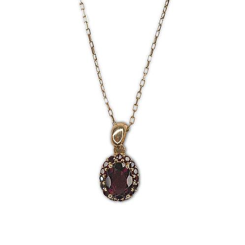 Katherine Garnet Necklace
