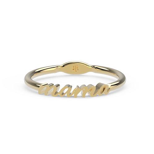 14K Mama Elizabeth Ring