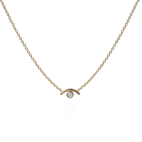 Mathilde Gem Eye Necklace