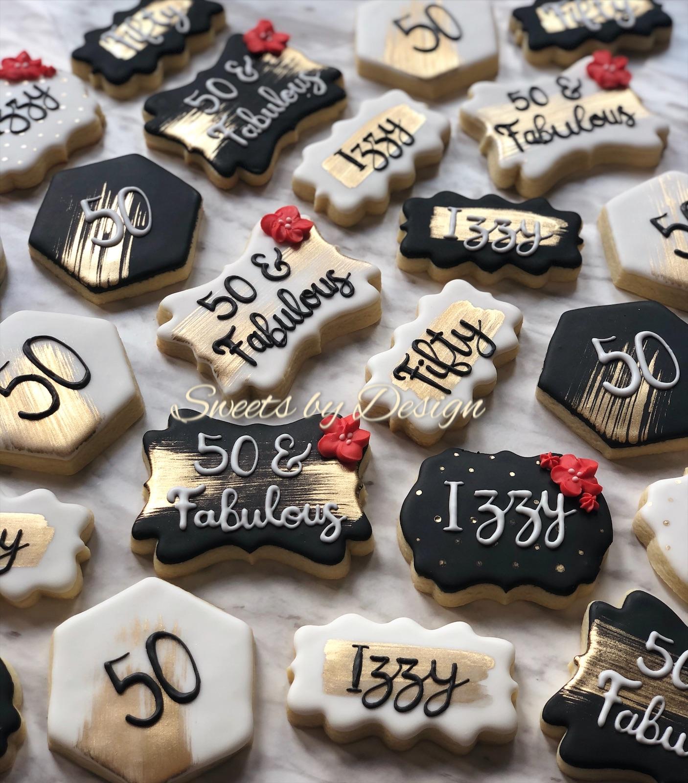 50 Birthday Custom Sugar Cookies