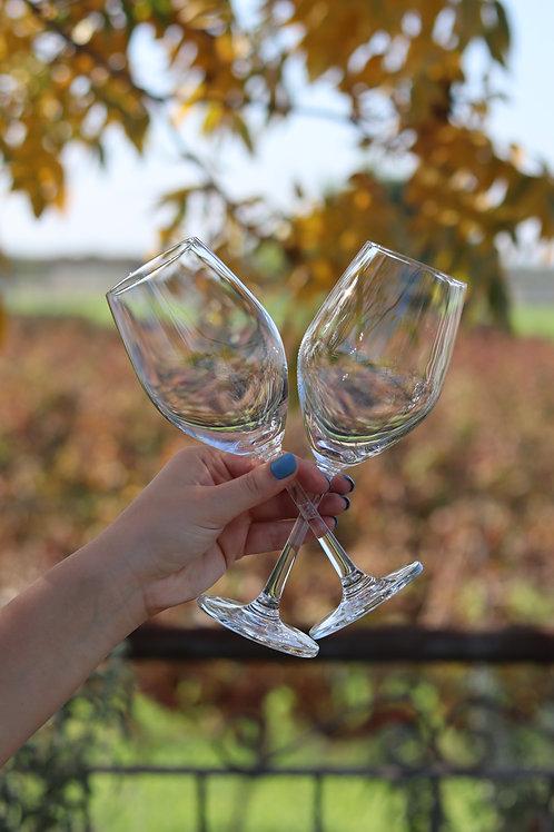 זוג כוסות יין זכוכית
