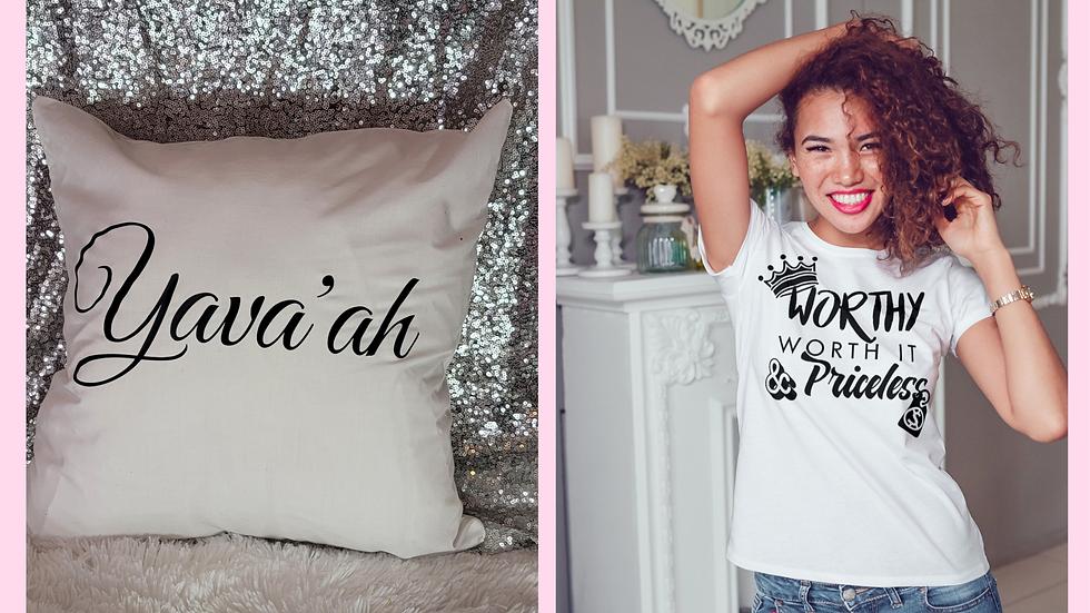 Name pillow & T-shirt bundle