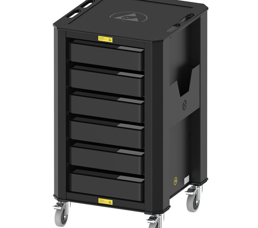 Nuwco ESD Container Trolley 6 Containers