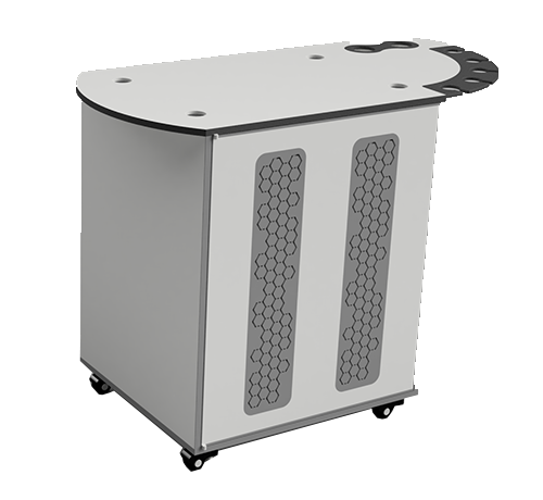 Plastic Modboxx lab cart