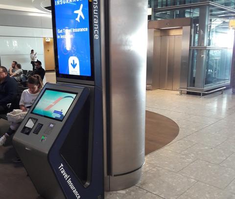 Custom airport POS kiosk