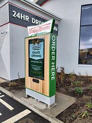 Krispy Kreme custom drive-thru kiosk enc