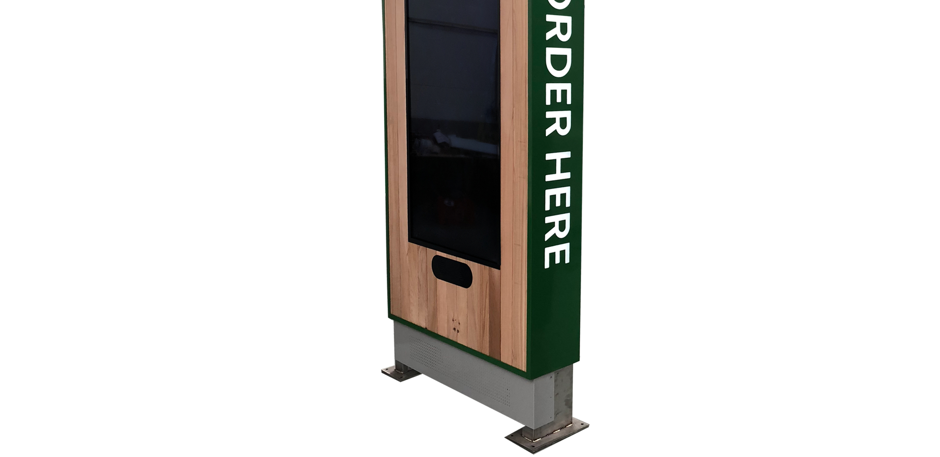 Custom drive-thru kiosk enclosure
