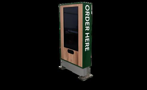 Custom drive-thru kiosk enclosure