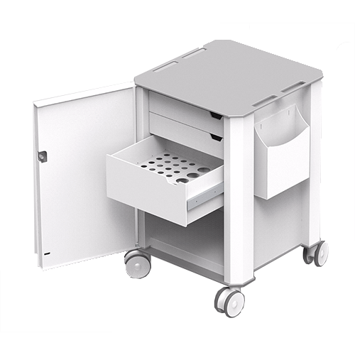 ABS 3 drawer medical trolley