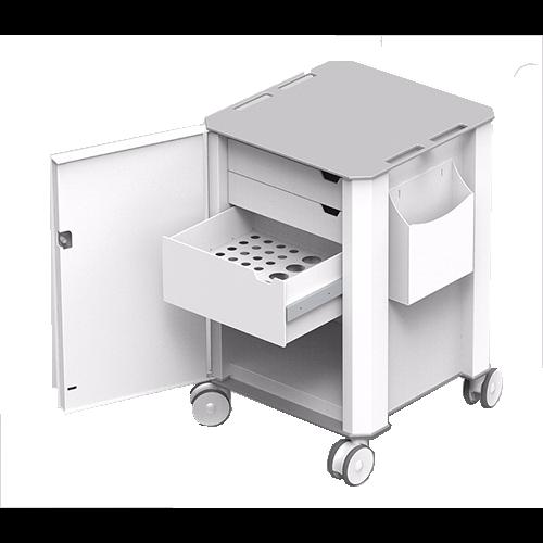 ABS 3 drawer medical trolley