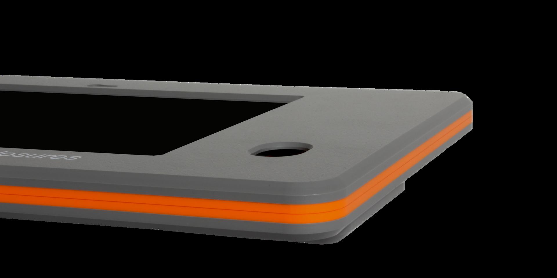 Fabricated plastic tablet enclosure