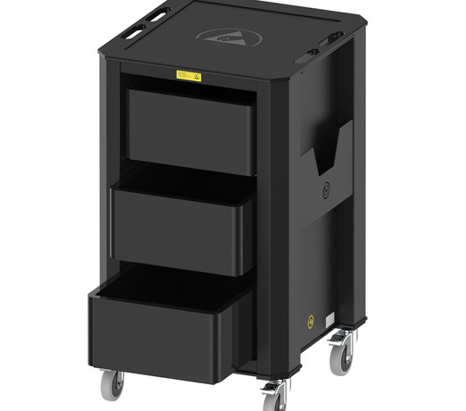 Nuwco ESD Container Trolley 3 Containers