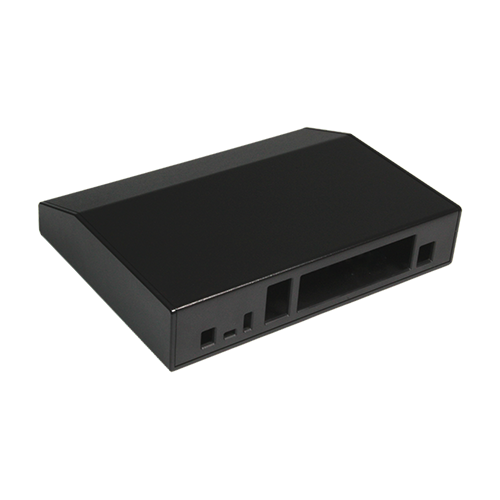 Custom angled electronics enclosure
