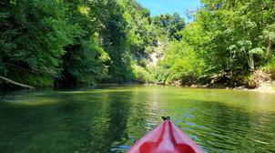 Parcours en canoë kayak sur la rivière du Guiers