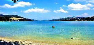 Plage du lac de Paladru situé à Charavines