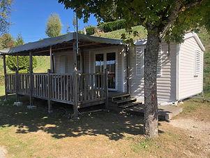 Location de mobil-home 6 personnes avec terrasse.  Lac de Paladru, Camping, Sans Souci, mobil Home, terrasse, Location.