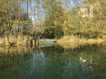 Barque dans la canal du Rhône