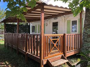 Louer sans attendre un mobil-home 6 personnes avec terrasse couverte.Lac de Paladru, Camping, Sans Souci, mobil Home, Location, Emplacement, Camping Car.