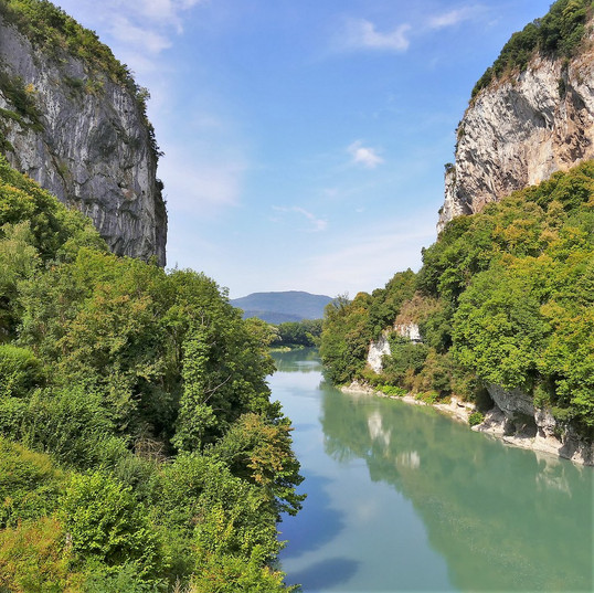 Les gorges de la Balme en Canoë & Kayak
