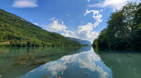 Les gorges de la Balme en Canoë Kayak