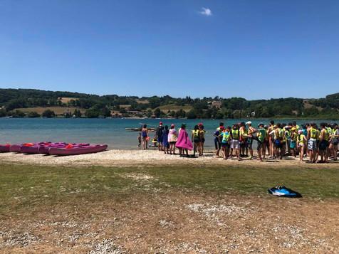 Manifestation sportive à la base nautique de Montferrat - Lac de Paladru