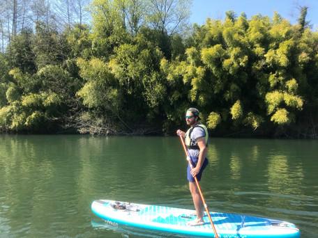 Stand Up Paddle à l'entrée des gorges de la Balme