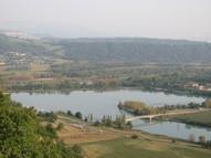 Le Plan d'eau de Cuchet vue de Bregnier Cordon