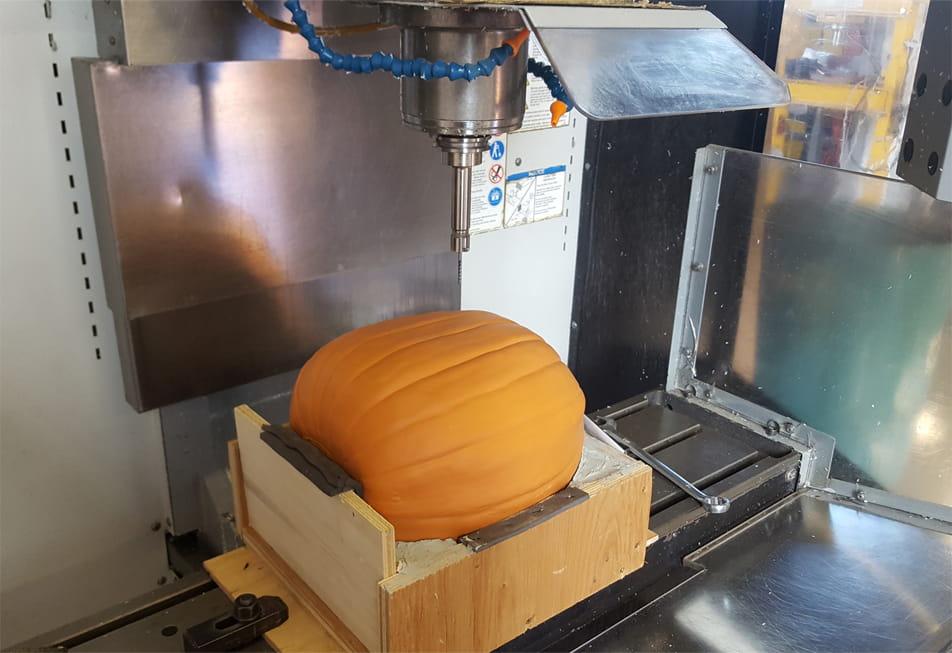 Pumpkin carving on a CNC machine