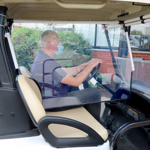 Golf Cart Passenger Dividers Now Available - COVID 19 Barrier