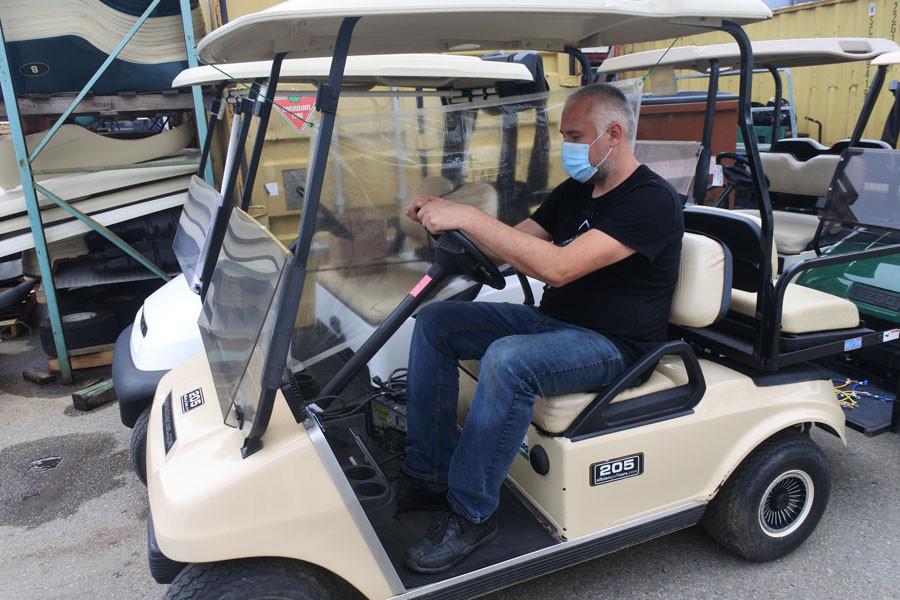 Golf Cart Covid Barrier