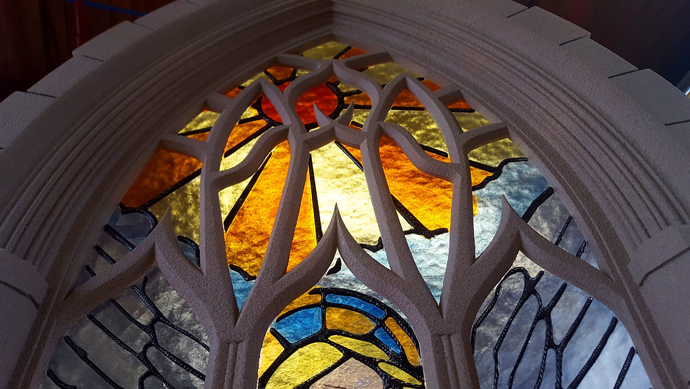 3d printed stained glass window