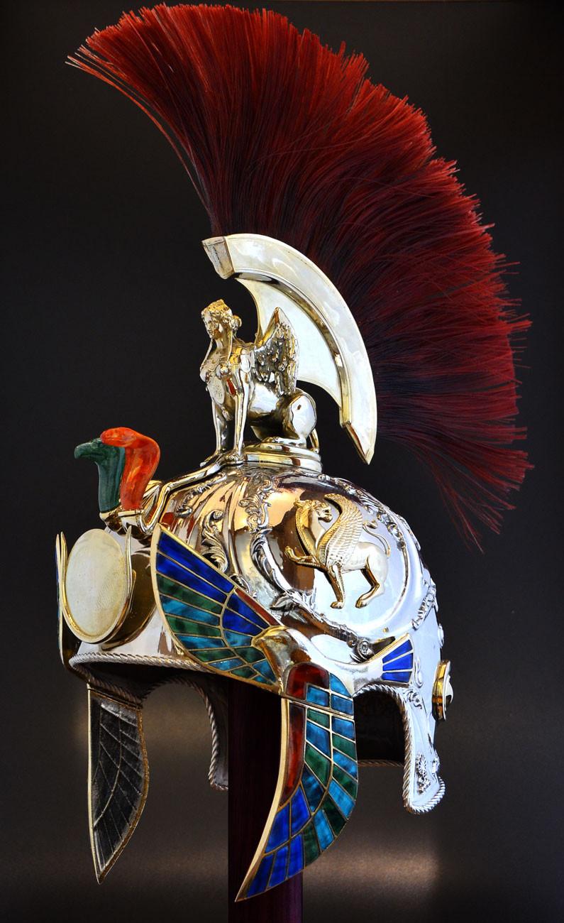 metal 3D printed Roman Helmet