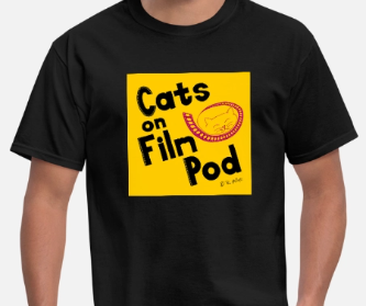 Black Cats on Film Pod logo t-shirt