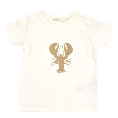 T-shirt Maglietta a manica corta in Cotone Organico - Aragosta Taupe - Pigeon