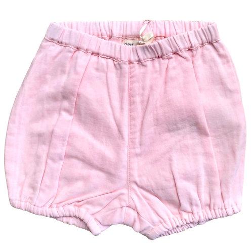 Bloomers shorts in Cotone Organico - Rosa tinta unita - Pigeon