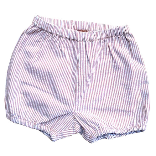 Bloomers shorts in Cotone Organico - Righe Taupe - Pigeon