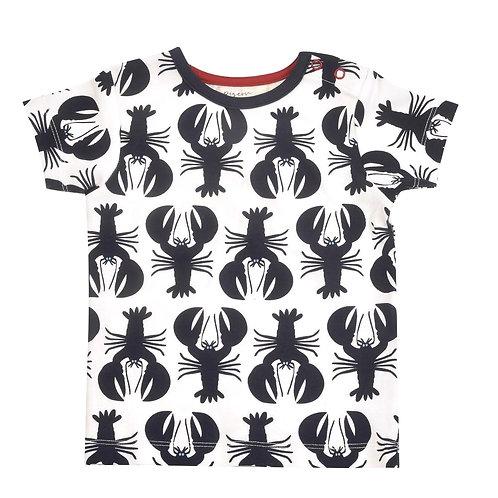 T-shirt Maglietta a manica corta in Cotone Organico - Aragoste Blu - Pigeon