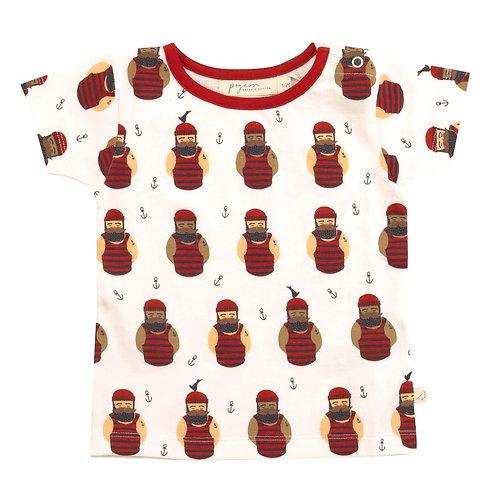 T-shirt Maglietta a manica corta in Cotone Organico - Lupo di Mare - Pigeon