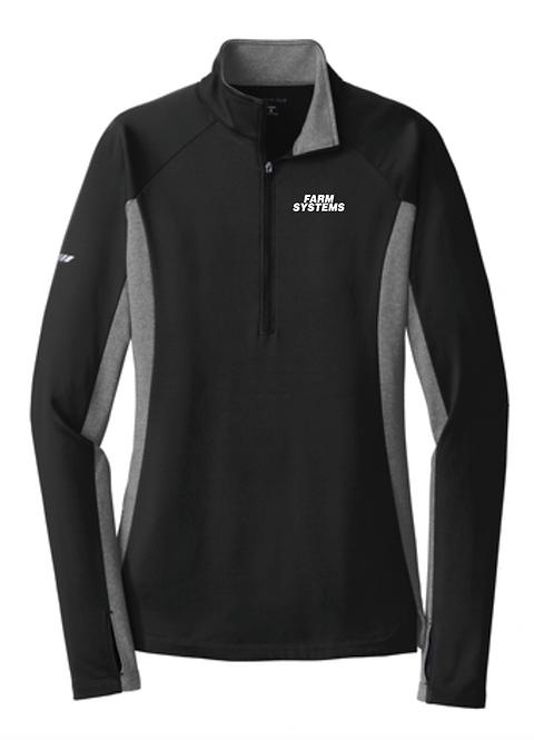 Sport-Tek® Ladies Sport-Wick® Stretch Contrast 1/2-Zip Pullover •LST854