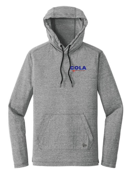 New Era® Tri-Blend Performance Pullover Hoodie Tee • NEA131 • Shadow Grey